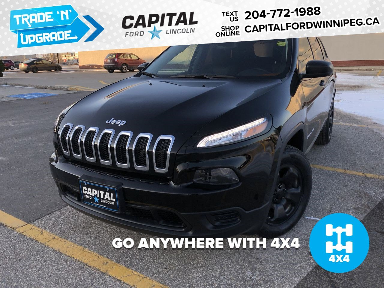 Pre-Owned 2017 Jeep Cherokee Sport 4X4 **New Arrival**