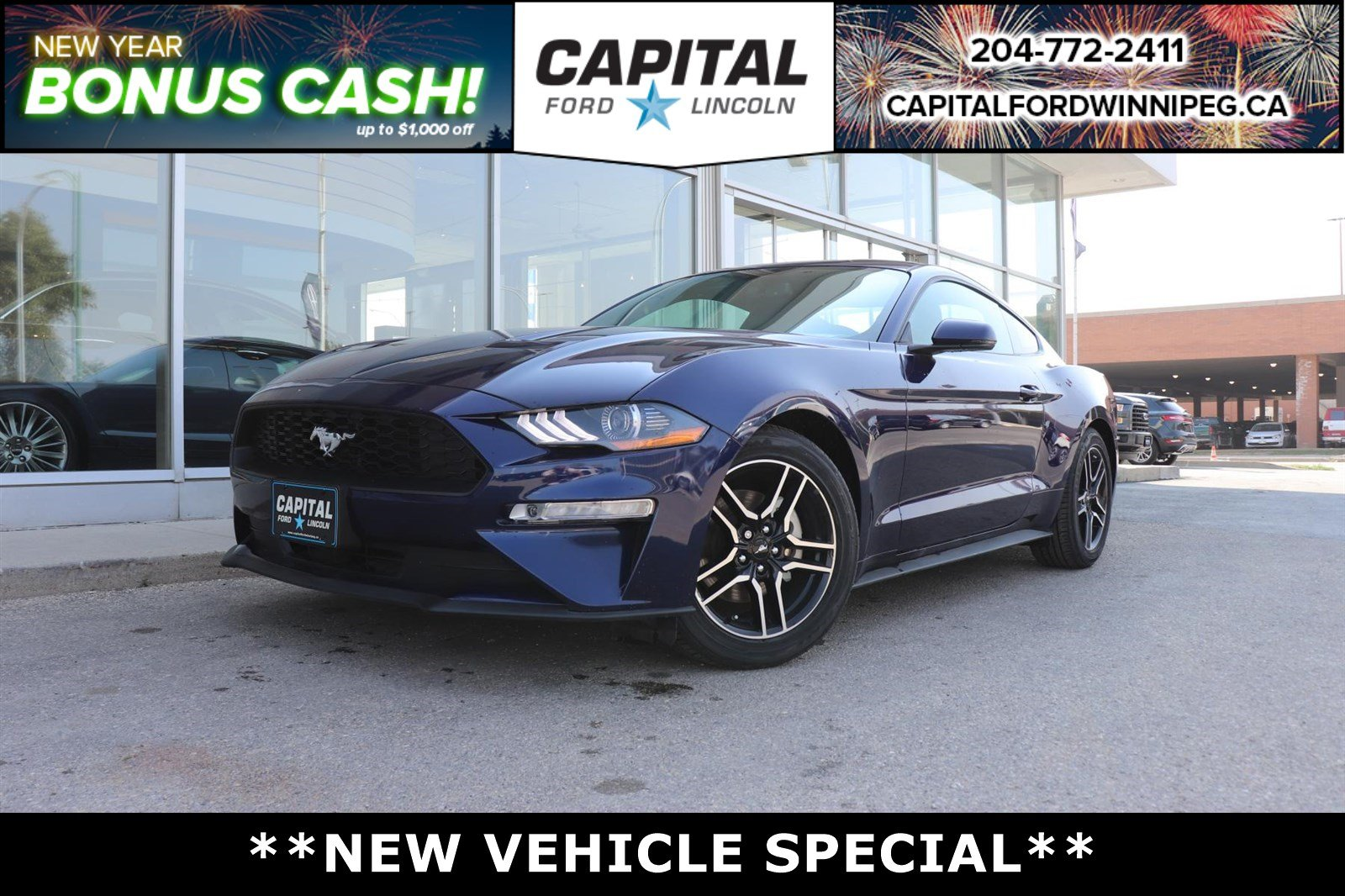 New 2018 Ford Mustang $5300 savings! EcoBoost Premium*Navigation*Leather*6 spd Manual*