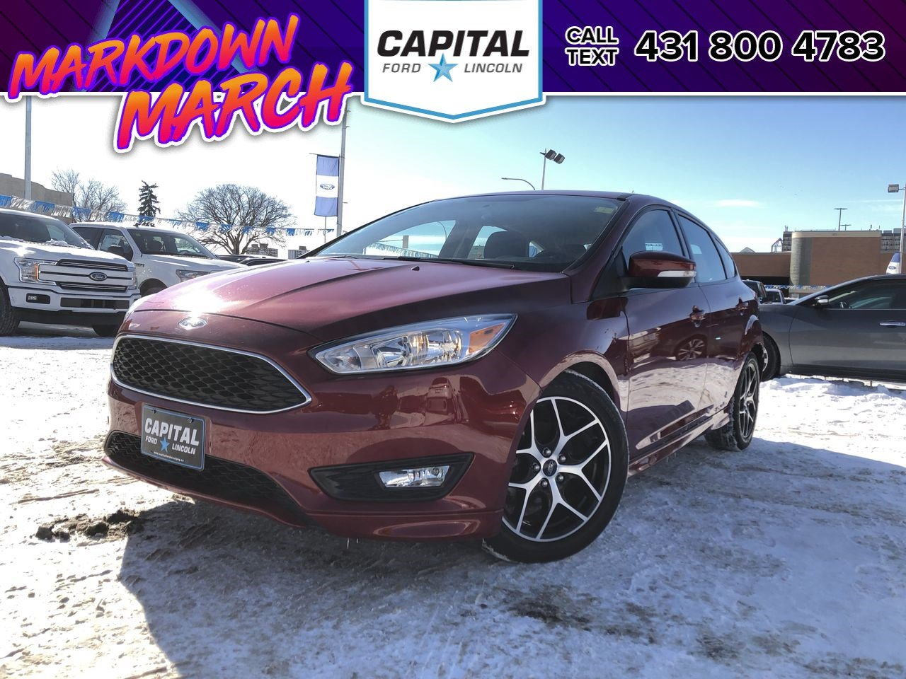 Pre-Owned 2015 Ford Focus SE HB