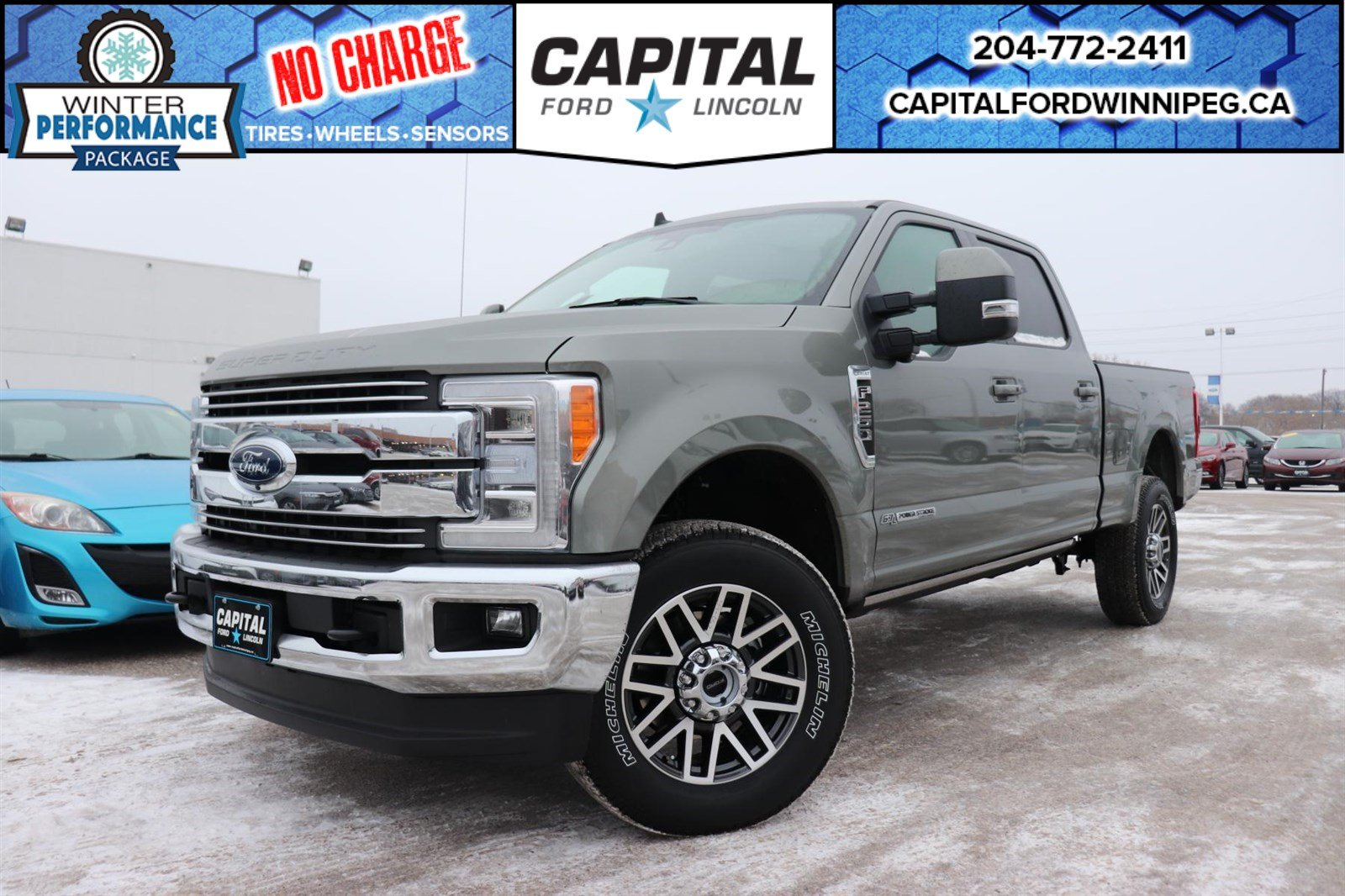 New 2019 ford f 250 diesel lariat crew twin panel moonroof towing