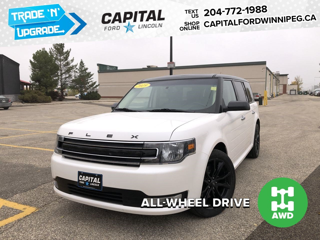Pre-Owned 2019 Ford Flex SEL AWD, SUNROOF, NAV, REMOTE START
