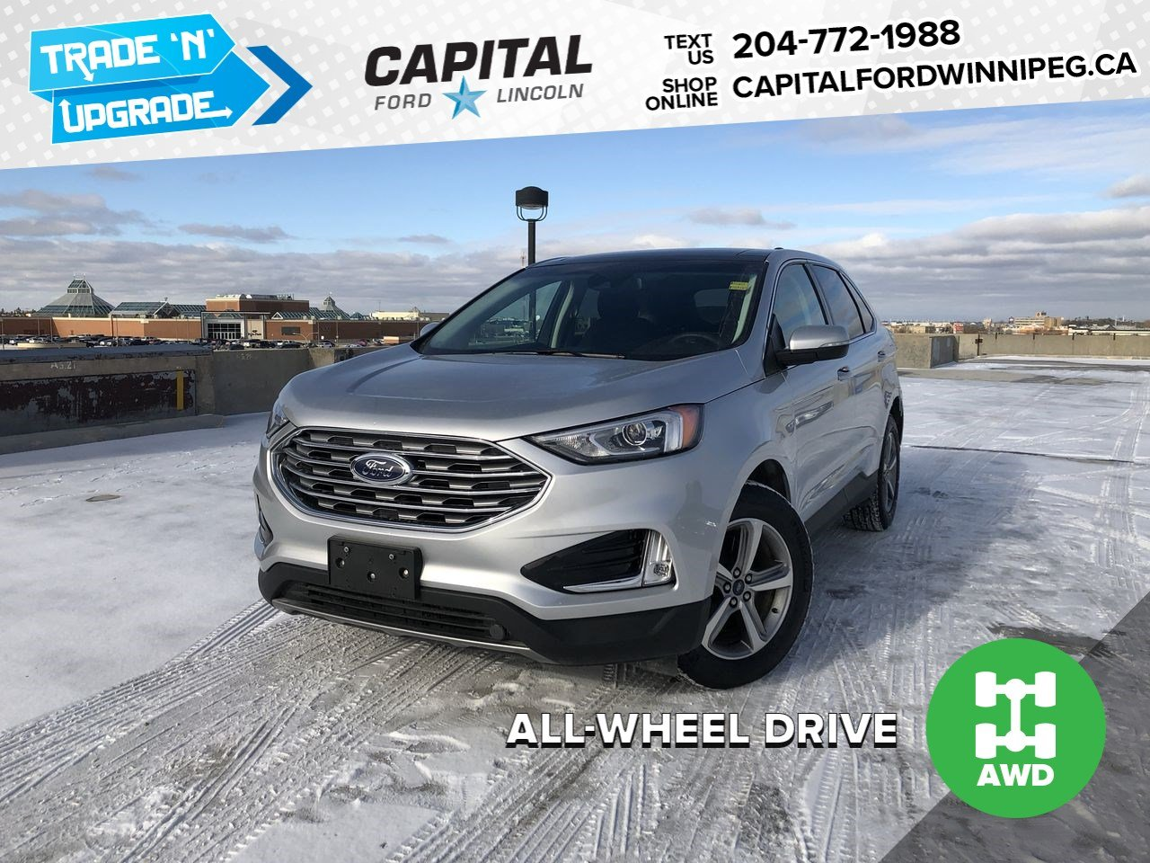 Pre-Owned 2019 Ford Edge SEL AWD ,SUNROOF, NAV, REMOTE START