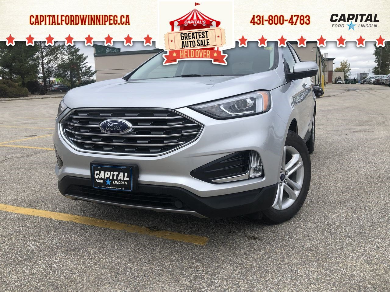 Pre-Owned 2019 Ford Edge SEL AWD, Pwr gate, Remote start, HEATED SEATS