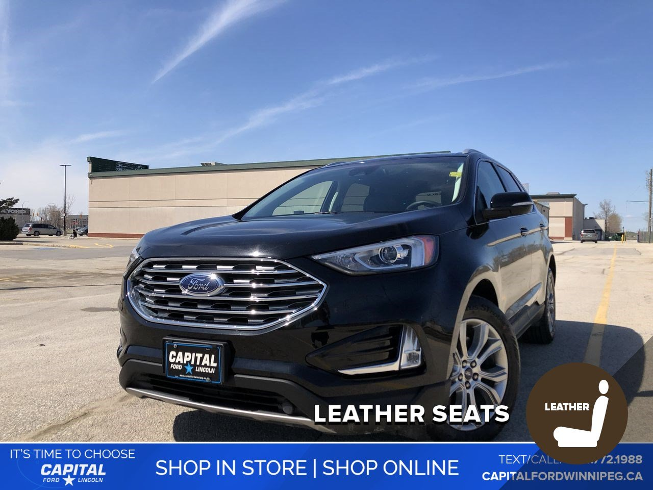 Pre-Owned 2019 Ford Edge Titanium AWD CommStart/FordPass/Blis