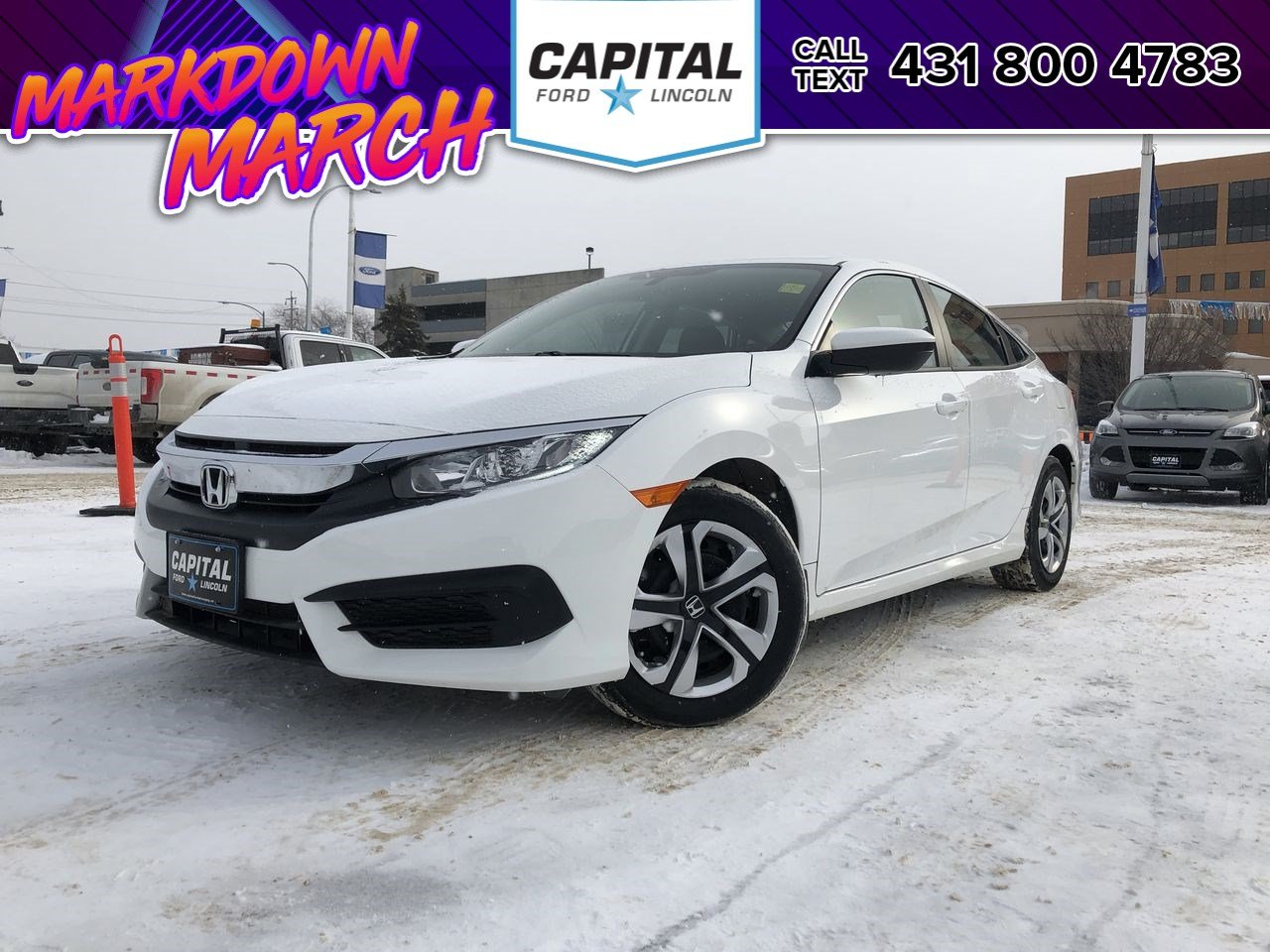 Pre-Owned 2018 Honda Civic Sedan LX HEATED SEATS CAR PLAY BACKUP CAM