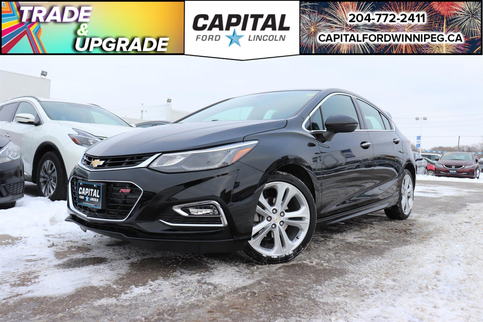 Pre-Owned 2018 Chevrolet Cruze Premier RS HEATED LEATHER CAR PLAY REMOTE START