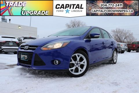 Pre-Owned 2014 Ford Focus Titanium LOCAL TRADE BRAND NEW BRAKES LEATHER ROOF REMOTE START