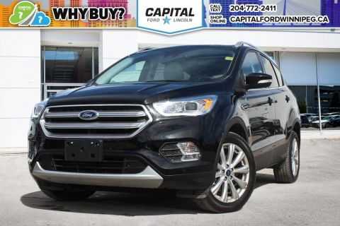 Pre-Owned 2017 Ford Escape Titanium 4WD W/ NAVIGATION & TWIN PANEL SUNROOF