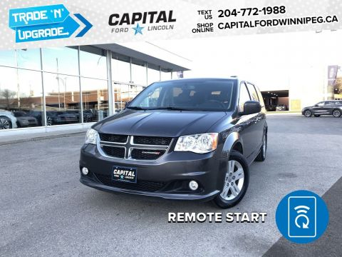 Pre-Owned 2018 Dodge Grand Caravan Crew PlusDVD & LEATHER