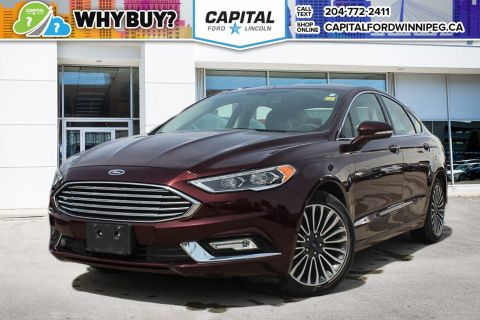 Pre-Owned 2017 Ford Fusion SE AWD LEATHER SUNROOF