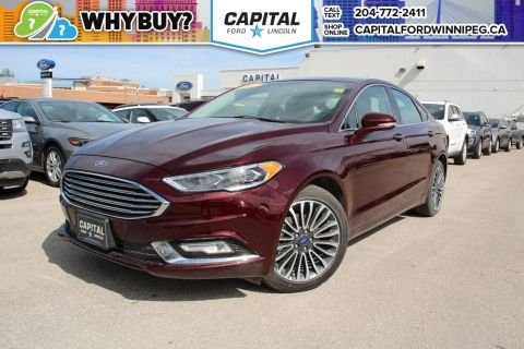 Pre-Owned 2017 Ford Fusion SE AWD LEATHER ROOF NAV