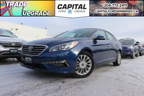Pre-Owned 2015 Hyundai Sonata Limited LOCAL TRADE AC LEATHER SUNROOF ADAPTIVE CRUISE